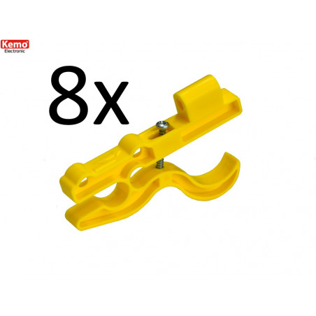 8 Insulating plastic supports for high voltage electrified fencing cable