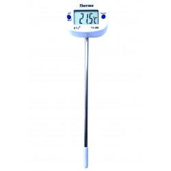 Termómetro digital para alimentos con pantalla LCD y sonda de acero inoxidable de 15 cm.