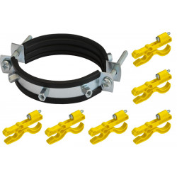 KIT 6 soportes de plástico + 1 soporte de lluvia para vallas electrificadas de alta tensión