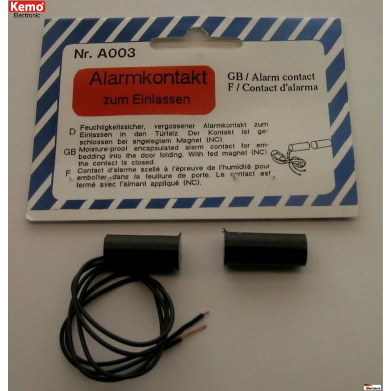 Sensore magnetico ante porte finestre contatto NC allarmi antifurto incasso