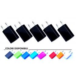 Alimentatore USB 5V 1A a spina colorato input 100-240V 0.15A ultracompatto