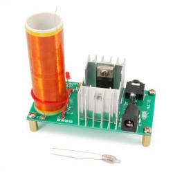 KIT Mini musical tesla coil 15 - 24 V DC high voltage audio input jack