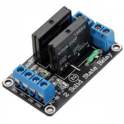 Shield Arduino Modulo con 2 relè allo stato solido 240 VAC / 2 A (max)