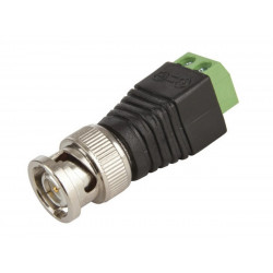 Male BNC connector with screw terminal