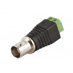 Female BNC connector with screw terminal