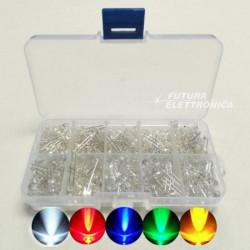Set 300 pezzi LED 3-5 mm colori vari