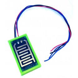 Heated rain detection plate for 12V rain sensors