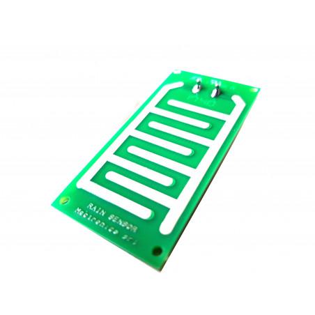 Rain detection plate for rain sensors