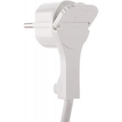 Spina schuko extrapiatta 16A colore bianco electraline 71065