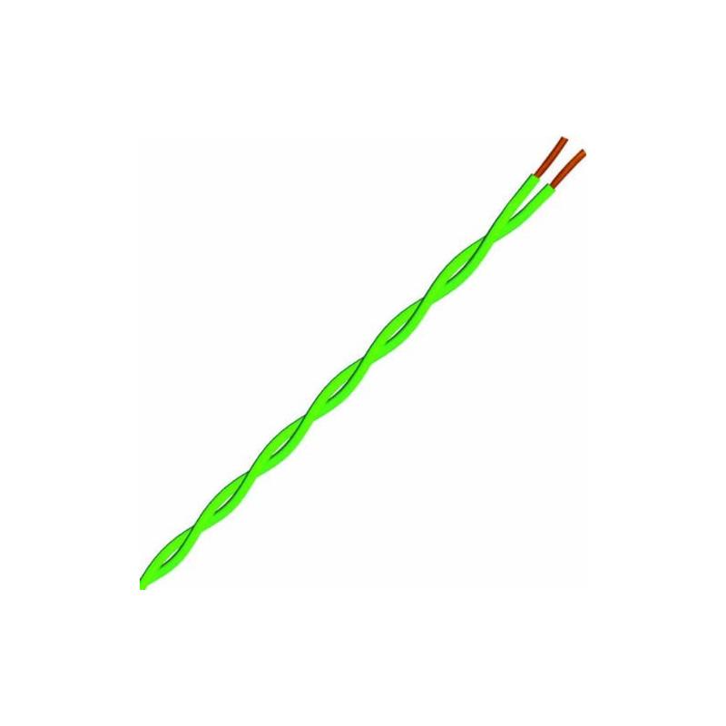 Matassa cavo per elettronica verde da 25 m FR 2x0,14 mmq  Electraline 19100