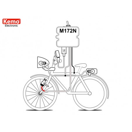 USB charger for smartphones, tablets, mp3, bicycle navigators for dynamo 800mA