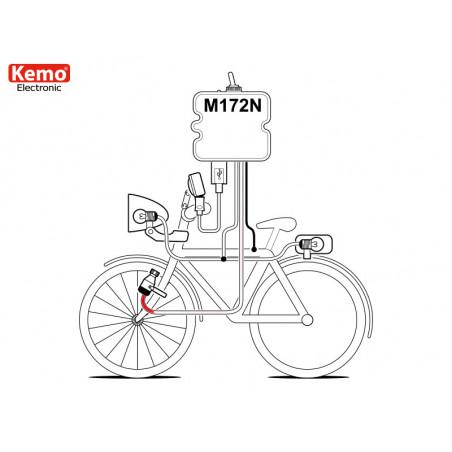 USB-Ladegerät für Smartphones, Tablets, MP3, Fahrradnavigatoren für Dynamo 800mA
