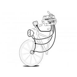 Caricabatteria Mini USB B smartphone tablet mp3 navigatori da bicicletta per dinamo