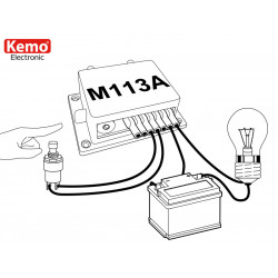 Monostable timer start stop buttons 12V DC adjustable 2sec- 23min with relay output