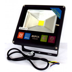 Indoor outdoor waterproof LED spotlight 20W 12V AC DC cold white