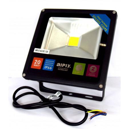 Faro faretto LED stagno interno esterno 20W 12V AC DC bianco freddo