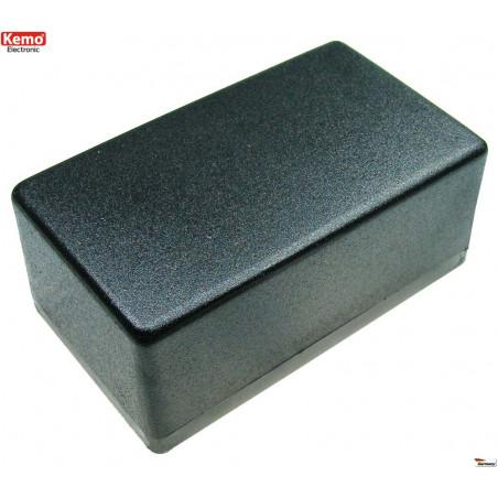Black plastic container 120x70x50 mm opening 4 screws half eurocard