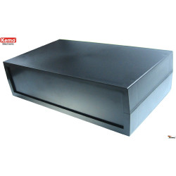Black plastic container 120x70x35 mm opening 4 screws, can be fixed to the wall