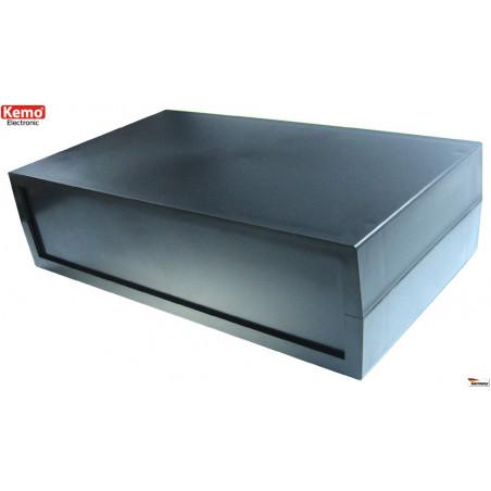 Contenitore plastico nero 120x70x35 mm apertura 4 viti fissabile a muro