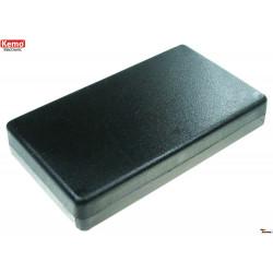 Black plastic container 120x70x200 mm opening 4 screws half eurocard