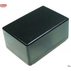 Mini bac plastique noir 72x50x35 mm ouverture 4 vis