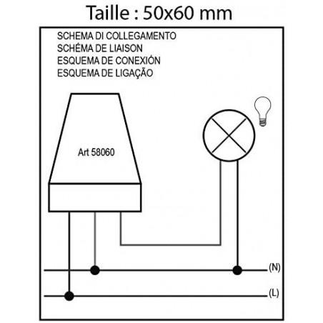 Interruttore crepuscolare 230V da esterno con regolazione luminosità