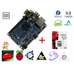 KIT Embedded PC BananaPI M2 ARM quad core 1GHz + SD card 8GB with OS