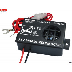 Ultrasonic repellent Mice Martens Rodents motor vehicles bonnet 12V DC