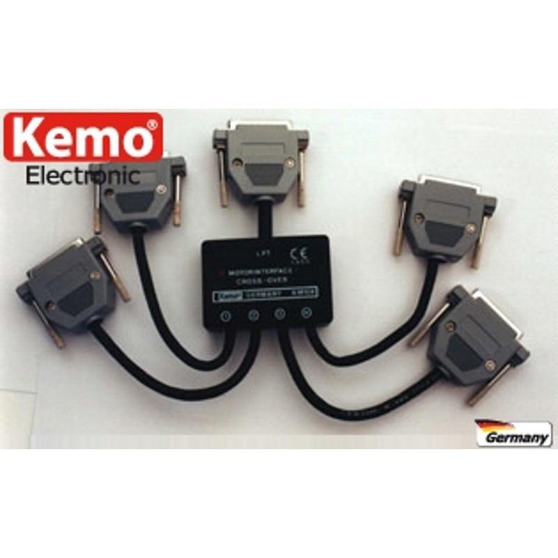 Hub switch 4 porte per interfacce controllo motori passo passo su porta LPT parallela