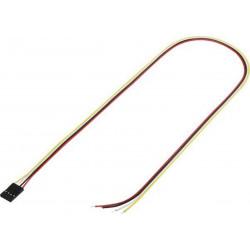 Cavetto 50cm con connettore strip femmina totale di poli: 4 passo: 2,54 mm