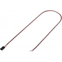 Cavetto 50cm con connettore strip femmina totale di poli: 3 passo: 2,54 mm