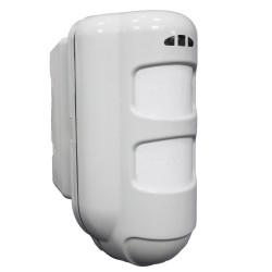 External universal battery / wire volumetric sensor with triple technology PIR MW