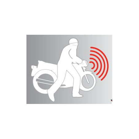 Tilt anti-theft alarm for motorcycles scooters bicycles 0-12-25V