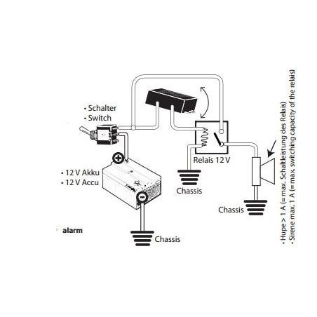 Allarme antifurto ad inclinazione per motociclette scooter biciclette 0-12-25V