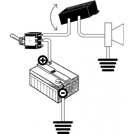 Alarma antirrobo basculante para motos scooters bicicletas 0-12-25V