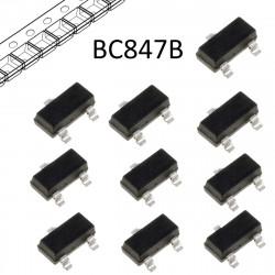 10 PEZZI BC847B.215 NEXPERIA Transistor NPN bipolare SOT23 45V 0,1A in nastro