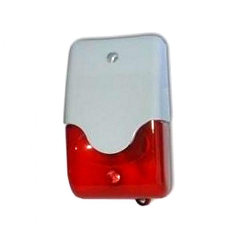 Sirena piezo 1/6 toni alta potenza 12V DC 108 dB per antifurto e allarmi