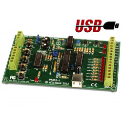 KIT Interfaz para PC E / S USB 5 entradas 8 salidas analógicas 2 entradas 2 salidas K8055N