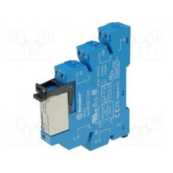 Modulo relè DPDT 8A 250V AC bobina 12V AC DC zoccolo supporto barra DIN