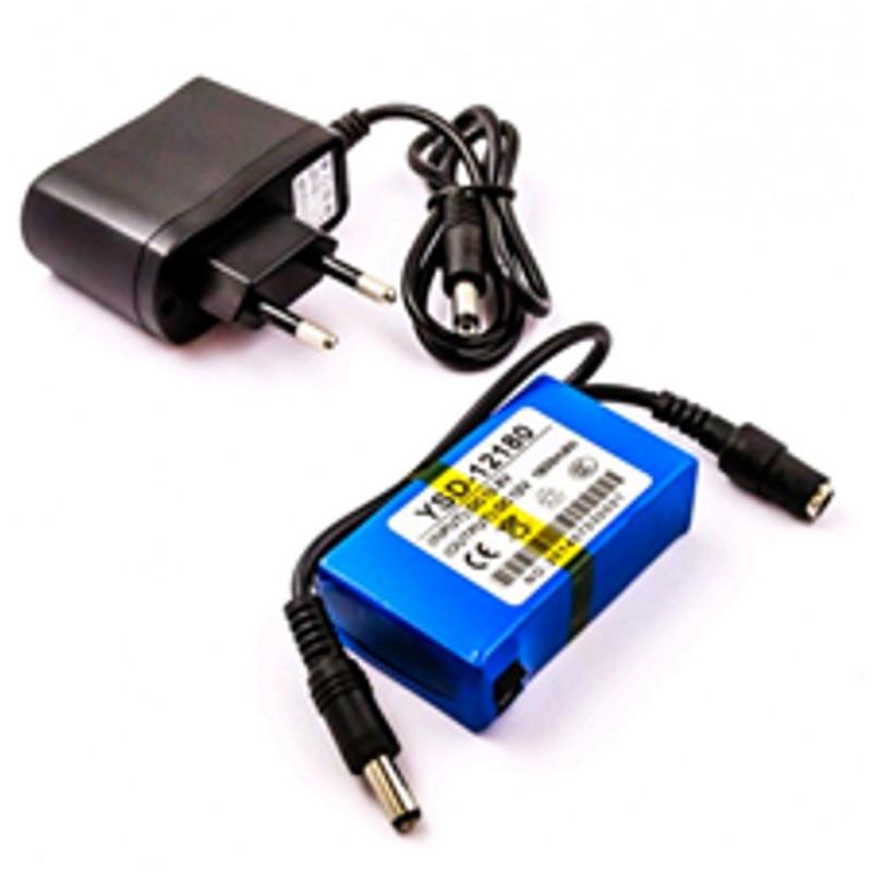 UPS Alimentatore batteria litio ricaricabile 1800mAh 300mA12V DC TVCC