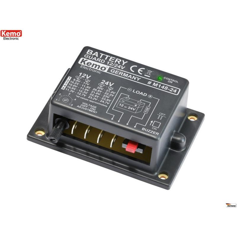 Protection contre la décharge de batterie au plomb 12V - 24V DC 20A