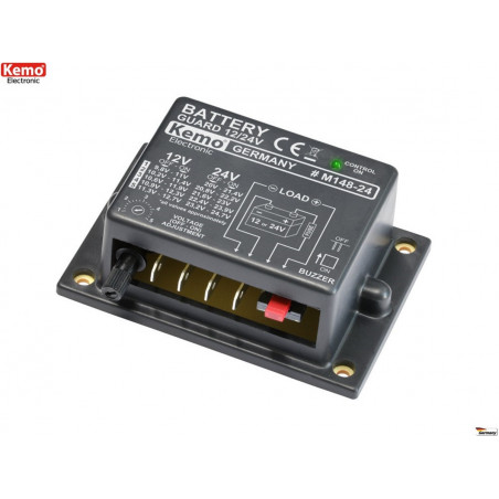 Bleibatteriesparmodus über Entladeschutz 12V - 24V DC 20A