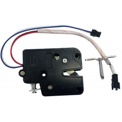 12 VDC mini electric lock for lockers with closing detection sensor