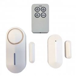 Wireless door and window bell siren alarm with remote control