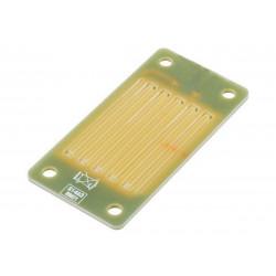 Rain detection plate for rain sensors with base on plastic box