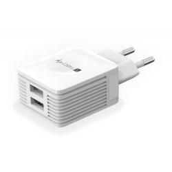 Caricatore USB 2 porte 2.1A AC 100-240V spina italiana 10A