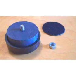 Set 4 piedini in gomma morbida 40mm isolamento vibrazioni case contenitori armadi