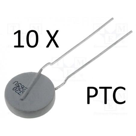 10 x PTC VISHAY PTCCL13H321HBE BC 8R4 320mA 265V overload protection