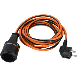 Prolunga elettrica 3G1.5 con meccanismo di blocco Electralock anti distacco 10 M