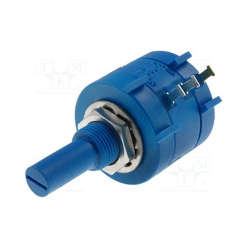 Potenziometro precisione lin multigiro a filo assiale 100Kohm 2W diametro 22x18mm